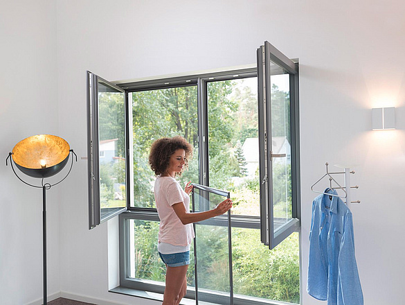 Insektenschutz Lämmermann - Spannrahmen Fenster bei GEISS Raum+Design